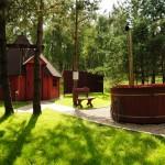 Domek z sauną, ruska bania